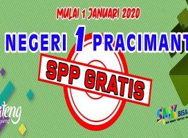 MULAI 1 JANUARI 2020 SMKN 1 PRACIMANTORO SPP GRATIS!